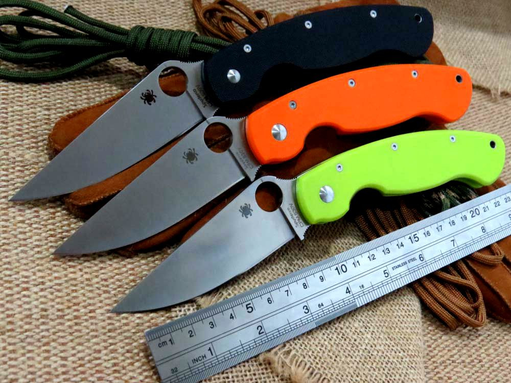Buy Good feedback C36 Folding Knife D2 steel G10 Handle Camping Hunting Survival Knives Military Pocket Outdoor Tool can OEM cheap