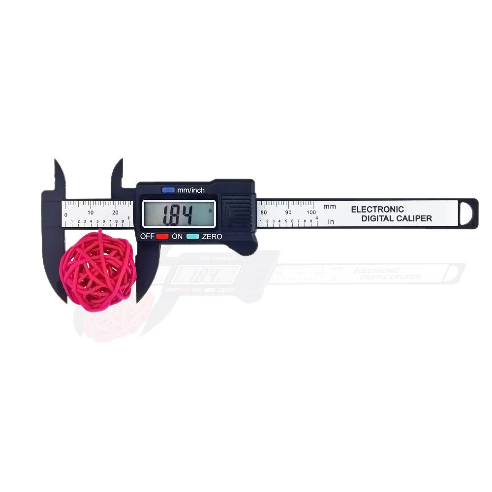 100mm 4inch Digital Vernier Caliper Electronic LCD Plastic Caliper Gauge Micrometer Ruler Carbon Fiber Micrometer Measuring Tool(China (Mainland))