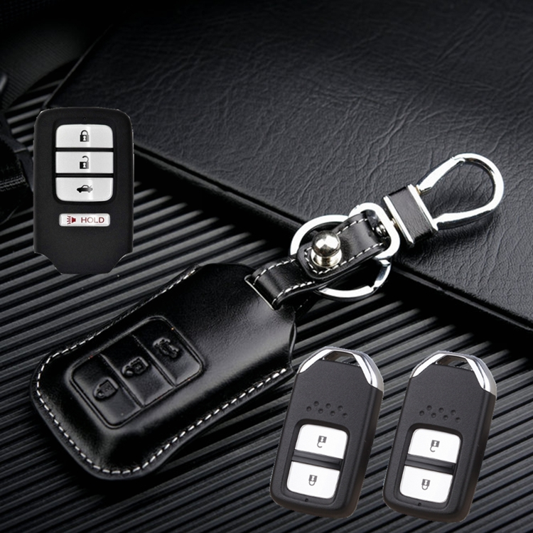 Leather Key holder case for Honda civic Accord Crider Fit odyssey Jade Car Key cover shell Bag wallet ring Keychain accessories(China (Mainland))