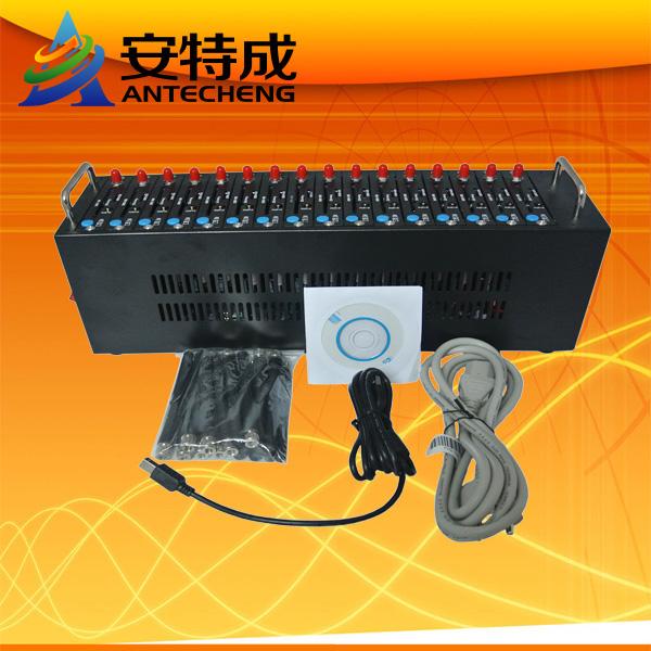 16 Ports GSM/GPRS Modem Pool With Original Wavecom Q2403A USB Interface free sms software bulk sms ussd stk recharge system(China (Mainland))