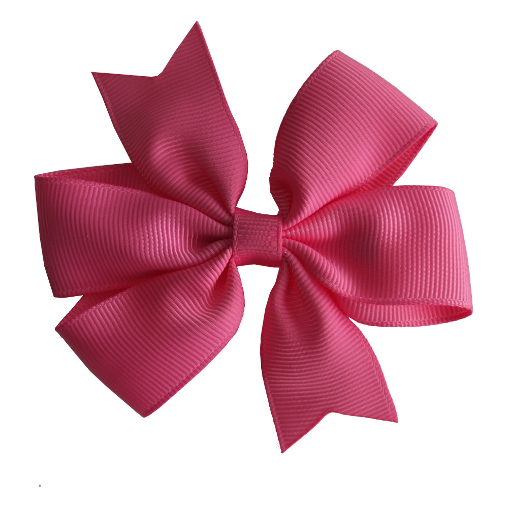 "40pcs Pinwheel Hair Bow 3.5"" Hairbow Clips Baby Girls Hair Accessories Headwear Boutique Grosgrain Dovetail Hair Bows Hairpins"