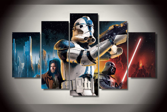 Star Wars Movie Canvas With Frame