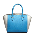 Ladies Ostrich Grain Handbag Fresh Style Designer Trapezoid Bag Color matching Fashion Cheap Bag Women Stylish