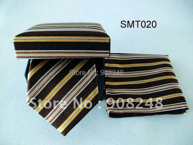 Free Shipping By Express Company Fashion 100% Silk Tie Set/ Hot Selling Silk Tie Sets/MOQ 21 Sets