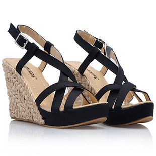 women shoes female high heels platform wedges sandals small/big size 30 to 43