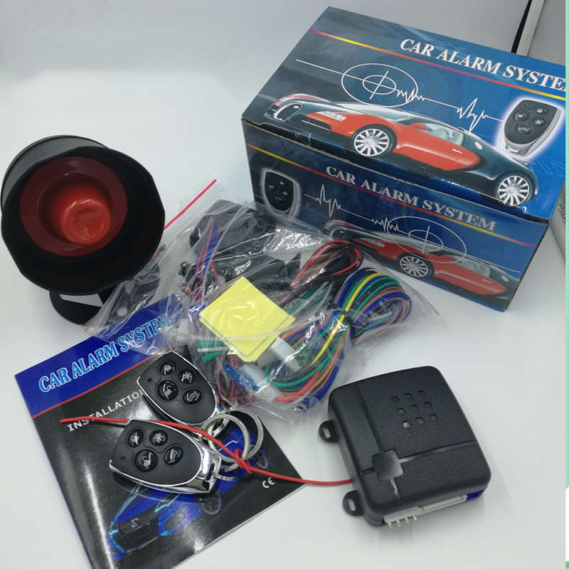 Universal Car Alarm System One Way Vehicle Burglar Alarm 15V Security Protection System with 2 Remote Control Auto Burglar(China (Mainland))