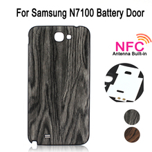 Vintage Wood Pattern Back Cover Replacement For Samsung Galaxy Note 2 II N7100 Battery Door Cover Housing, With NFC Antenna(China (Mainland))