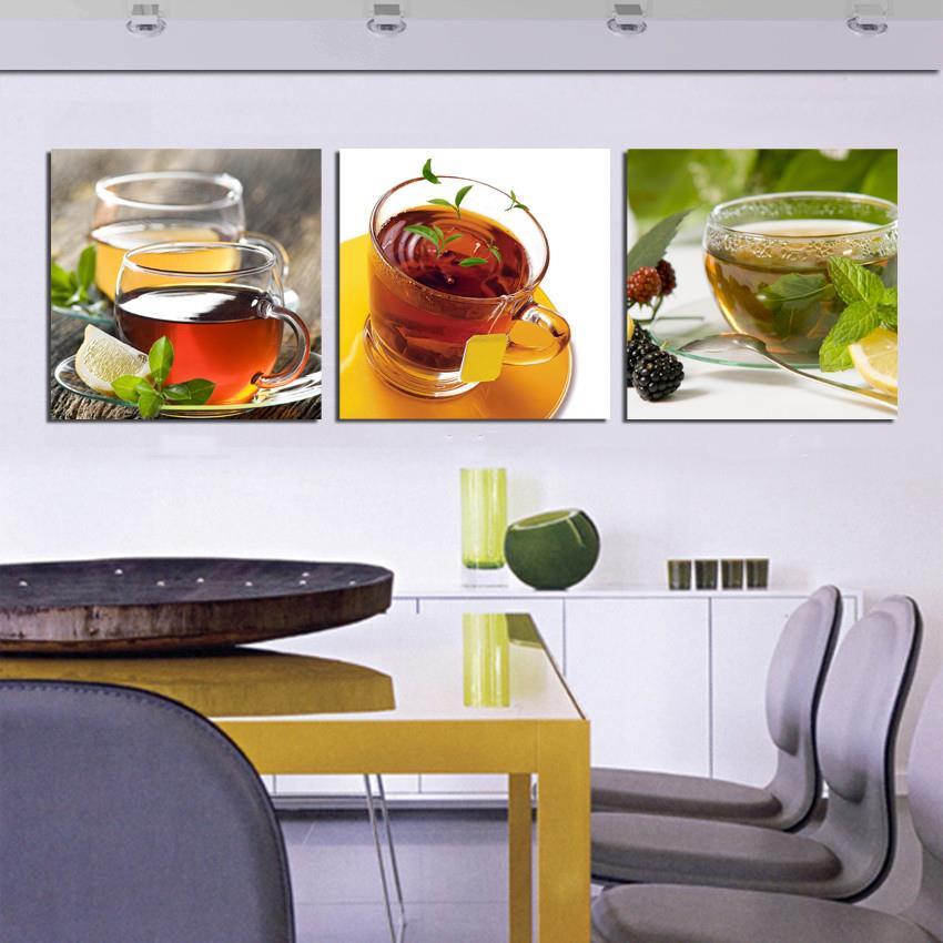 Popular 3 piece canvas wall art buy cheap 3 piece canvas for Kitchen decoration piece
