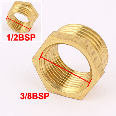 1/2BSP x 3/8BSP Male to Female Thread Brass Hex Reducing Bushing Adapter Pipe Fitting(China (Mainland))