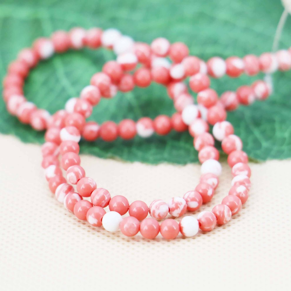 4mm Hot sale Pink Jasper Round loose DIY stones beads Jewelry crafts making design 15inch 2pc/lot women Girls Gifts(China (Mainland))