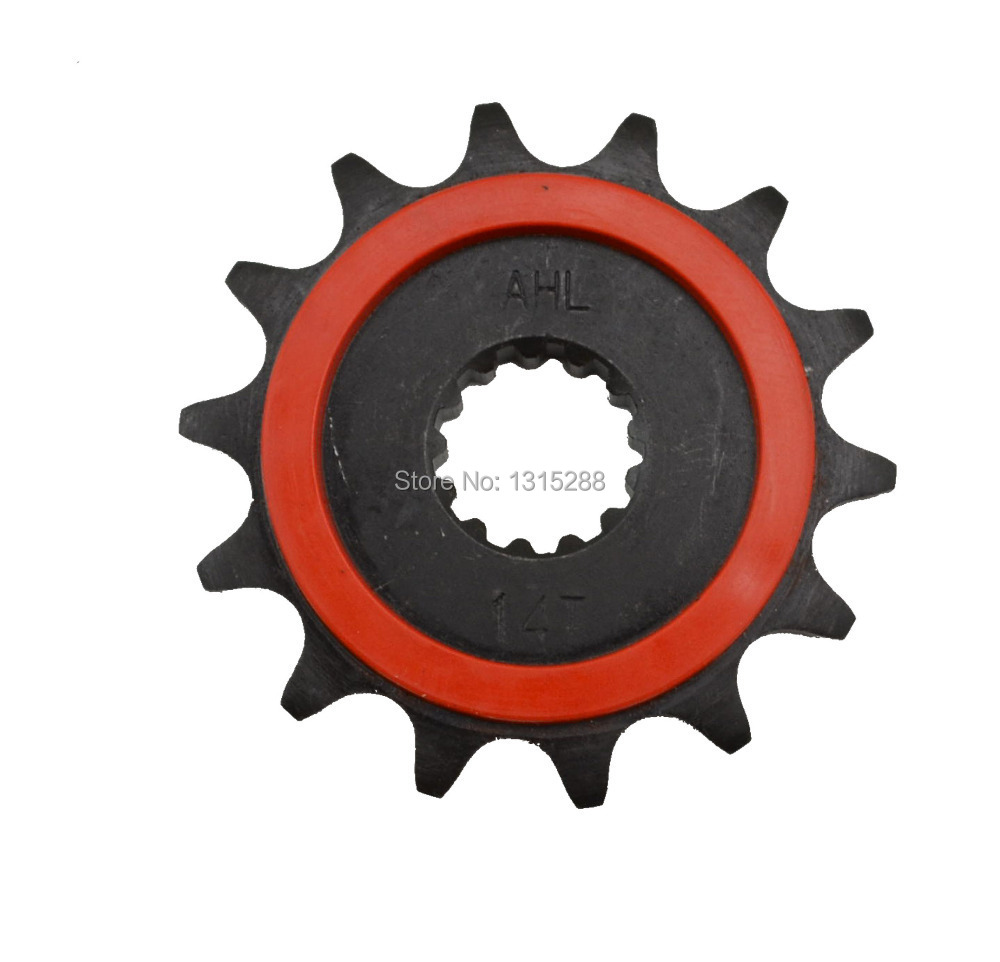 Motorcycle parts Front Sprocket Motor Gear for SUZUKI DR250 DRZ400 Jonathan350 KLX400 type 520 14 Tooth Beyond the original part(China (Mainland))
