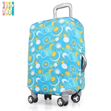 Size S Apply to 18''~22'' Cases Suitcase Protector Cover Travel Luggage Cover Protective Trunk Case Thick Elastic Free Shipping(China (Mainland))