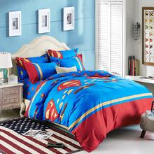 New Arrival 4 Pieces Bedding Set Superman Bedding King Cotton Bed Sheet/Duvet Cover/Pillowcase For Comforter Bedding Sets(China (Mainland))