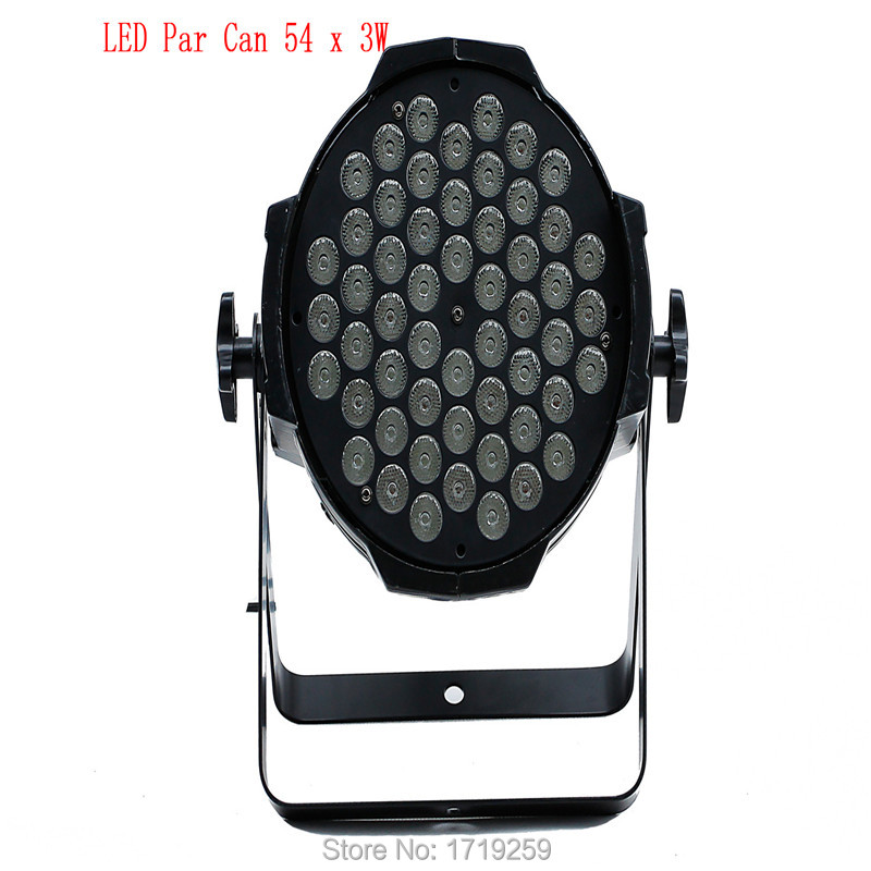 Fast Shipping 6pcs/lot New LED Par Can 54 x 3W RGBW 180W Color With 8 Channels DJ Wash Light Stage Uplighting No Noise <br><br>Aliexpress