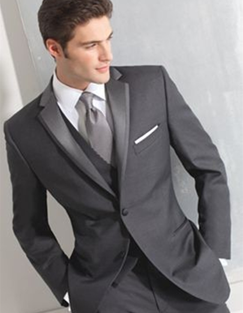 wedding suits charcoal groom wedding suit jacket prom tuxedo three piece suits 2016