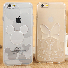 Minnie mickey Transparent Soft TPU Cover Cases For iphone6 Plus / 6s Plus (5.5inch 5.5″) Phone Cases