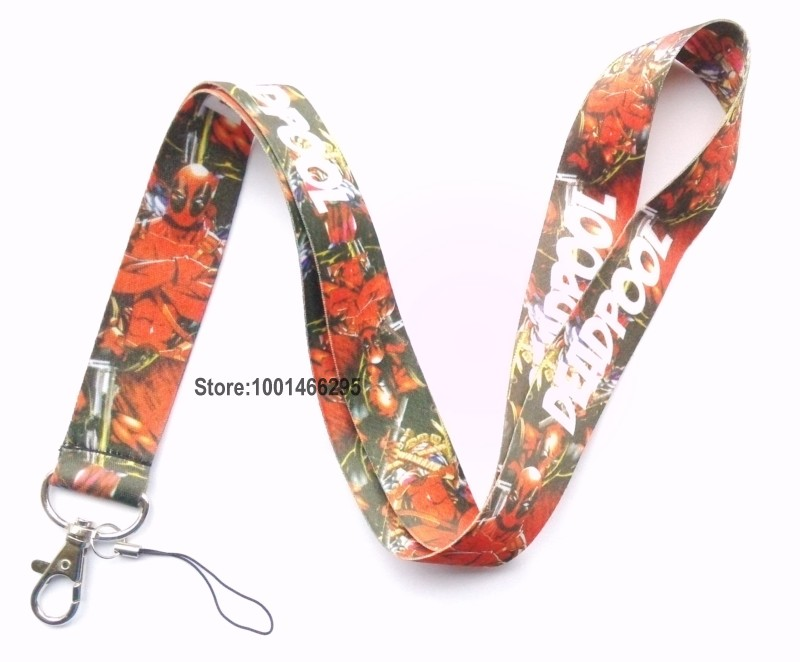 Free shipping 10 Pcs /Wholesale lots Deadpool Necklace Strap Lanyards Cell Phone PDA Key ID Strap Charms L108(China (Mainland))