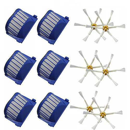 Aero Vac Filter & Side Brushes for iRobot Roomba 500 600 Series 536 550 551 552 585 595 620 630 650 660 Vacuum Cleaning Robots(China (Mainland))