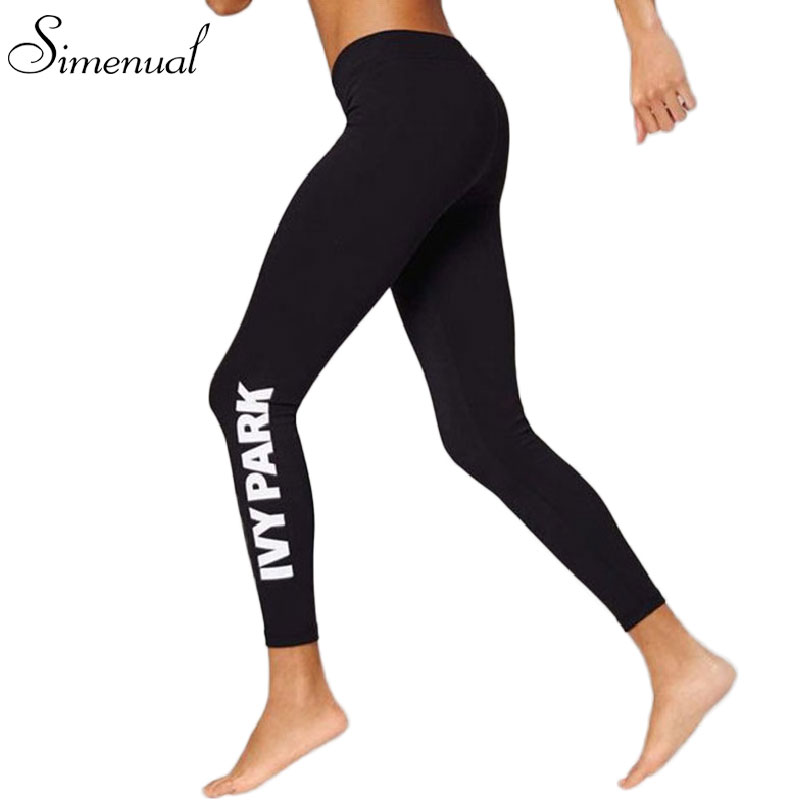 2016 Sporty style 2016 sport leggings letter print fitness women slim legging harajuku fashion sexy running gym sports clothing(China (Mainland))