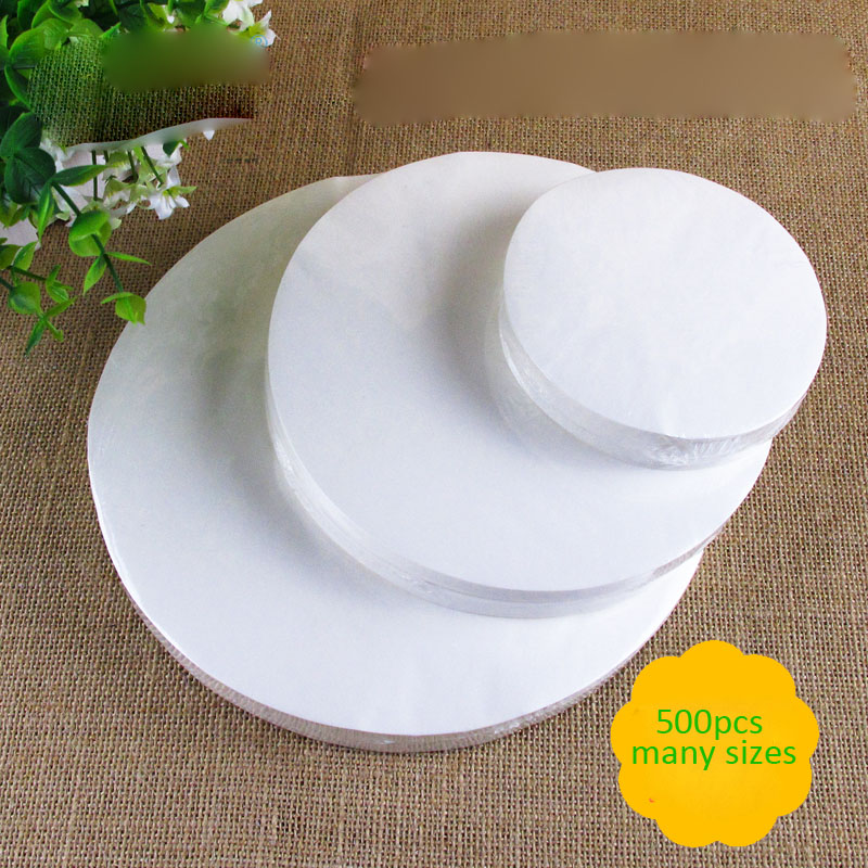 500pcs 30cm Round size High Quality Parchment Paper Silicone Baking Mat Pad circular Wax Non Stick Kitchen translucent(China (Mainland))