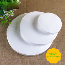 500pcs round 27cm non-stick baking parchment grease-proof oil paper kitchen BBQ Barbecue Grilled baked favors baking wax paper