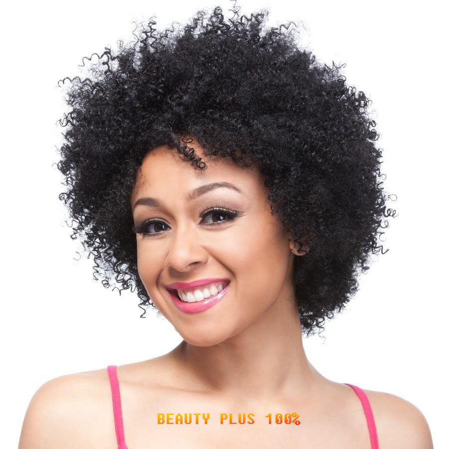 Short Black Curly Wig Afro African American Wigs For Black