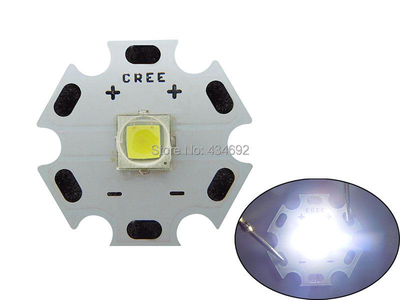 Brand New 10W Cree XLamp XM-L2 XML2 T6 White 6000K-6500K LED Module 1000LM on Star PCB Board 20mm 5PCS Free Shipping(China (Mainland))