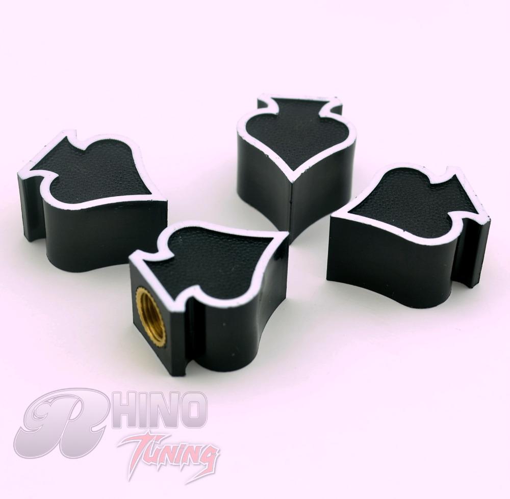 4 PC Custom Black Ace of Spades Wheel Tire Air Valve Stem Cover Caps Spades Car Dust Caps Cover for Meriva GTC Astra AMPERA(China (Mainland))