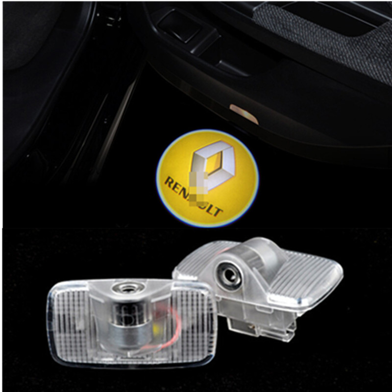 car styling auto Renault Wireless car door light ghost shadow welcome light logo projector emblem For Renault <br><br>Aliexpress