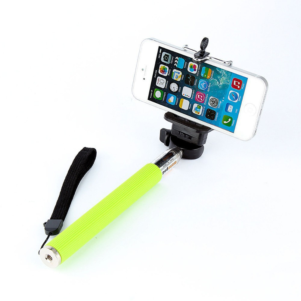 wire control extendable selfie handheld monopod stick holder for iphone samsung alizones. Black Bedroom Furniture Sets. Home Design Ideas