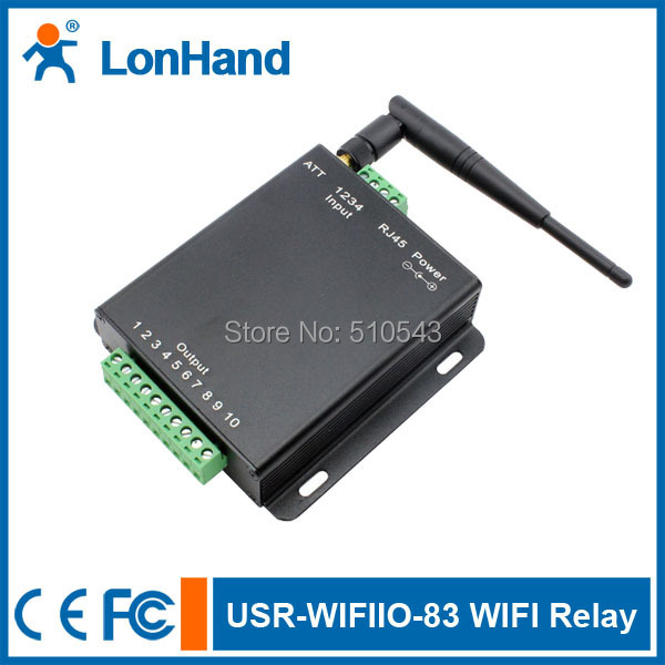 Ethernet Interface WIFI Relay Ethernet relay device with 8Channel free android app IOS PC software