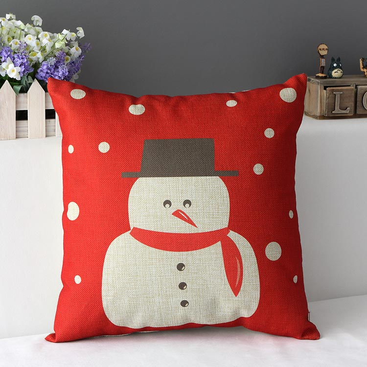 Decorative Pillow Covers Set Five : Aliexpress.com : Buy Christmas pillow covers snowman cushion cover sofa throw pillows red ...
