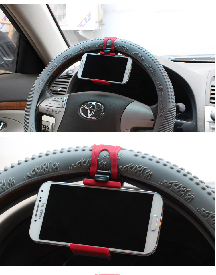 Universal Car Steering Wheel Phone Socket Holder Navigate Case Cover For iPhone SE 4 5S 6S Plus For Samsung Galaxy S7 S5 S6 edge