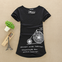 Plus size women tops and tees t shirt women 2016 O-neck sexy women shirts T-shirts Short Sleeve Stretch Cotton Tees(China (Mainland))
