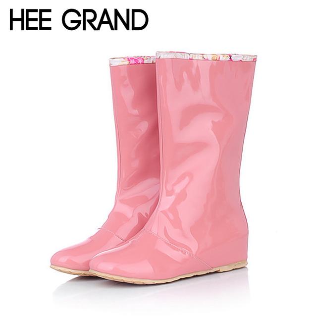 Конфеты цвета ботинки дождя 2015 новинка цветочные средний-икры женщин-сапоги туфли-квартиры ...