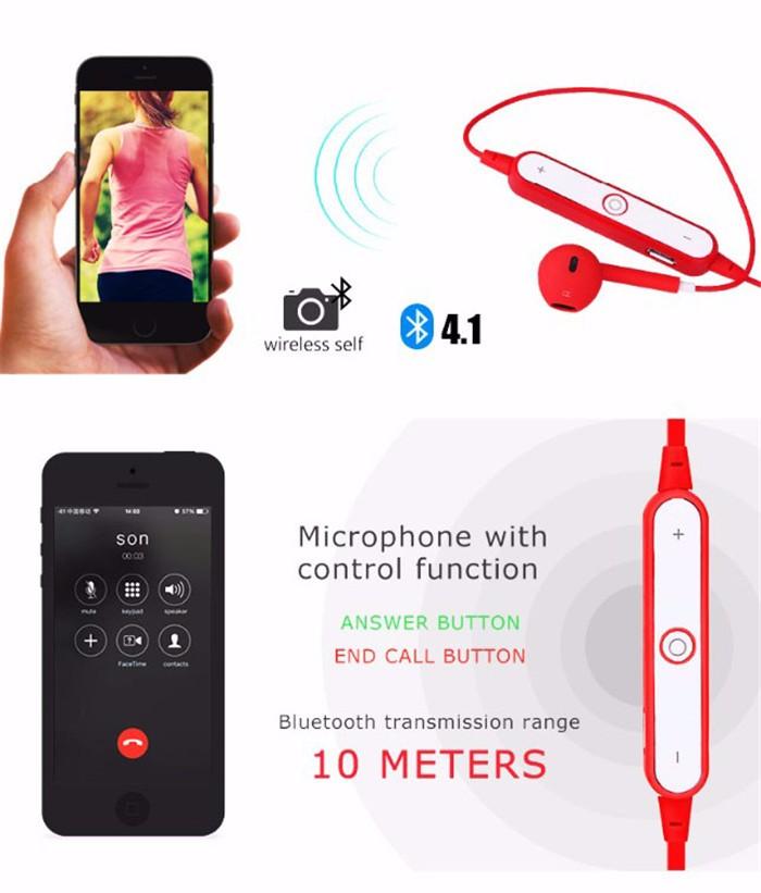 Bluetooth Earphone For iPhone 7 5 5S 5C 6 6S EarPods Earbuds Sport Wireless Bluetooth 4.1 Headset For Samsung HTC fone de ouvido