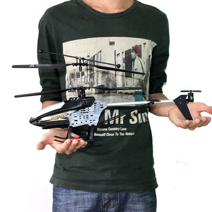 Scolour 4CH R/C Remote Control RC 45CM LED Helicopter With Gyro Black Gift Free Shipping&Wholesales(China (Mainland))
