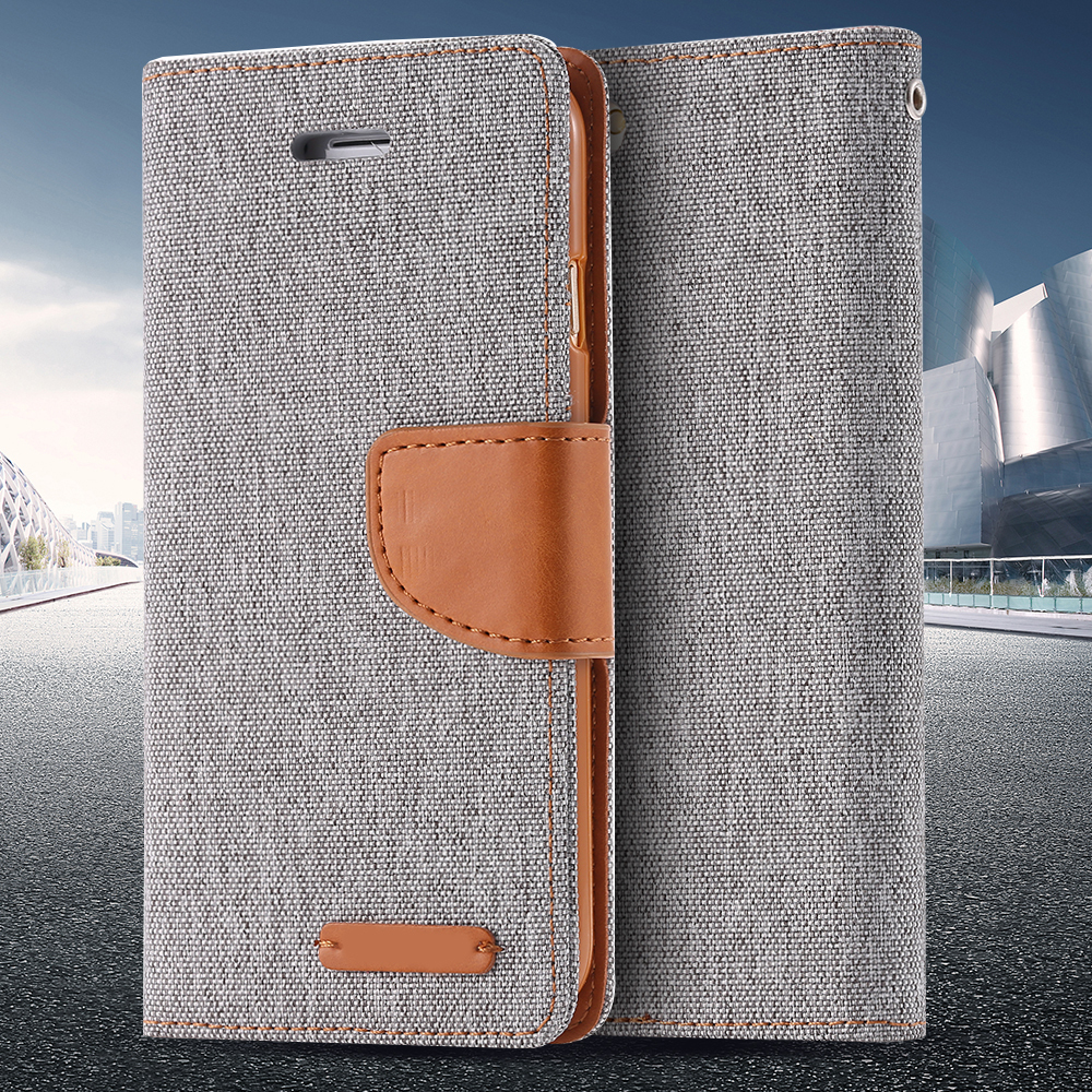 For iPhone 5S SE Stand Wallet Cases Fashion Ultra Flip Cloth Leather Case For iPhone 5 5S 5G For iPhone SE Hit Color Full Cover(China (Mainland))