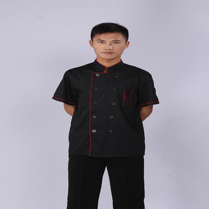 Cook suit summer clothes black work wear short-sleeveОдежда и ак�е��уары<br><br><br>Aliexpress