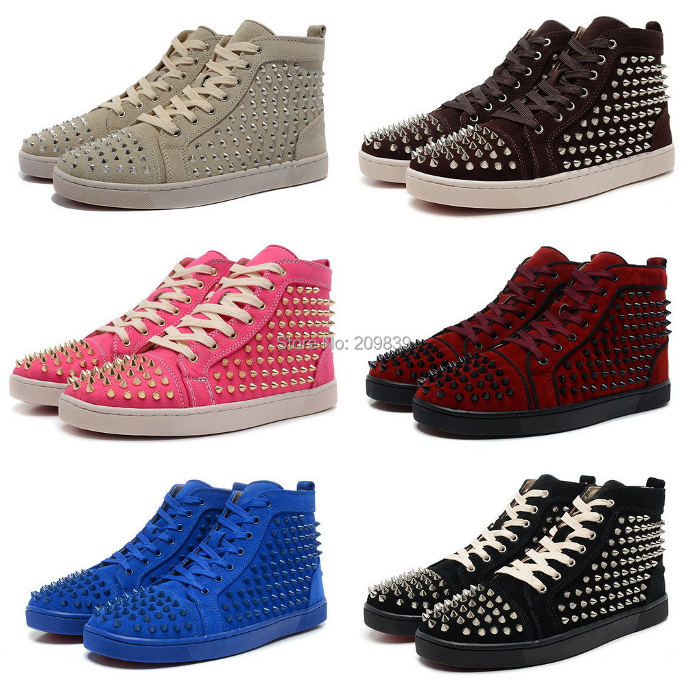 womens spike studded suede cheap name brand fashion noble