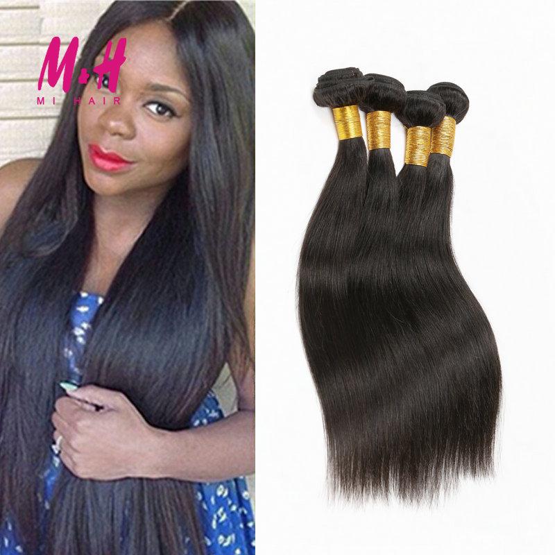 7A Grade Unprocessed Straight Virgin Hair 3 Bundles Brazilian Virgin Hair Straight Ms Lula  Hair Brazilian Hair Weave Bundles
