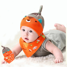 IVE 2016 New Baby Hat Bibs Sets Kids Hat+Bib Baby Bibs Boys Cute Caps For Baby Age 0-12months IA316(China (Mainland))