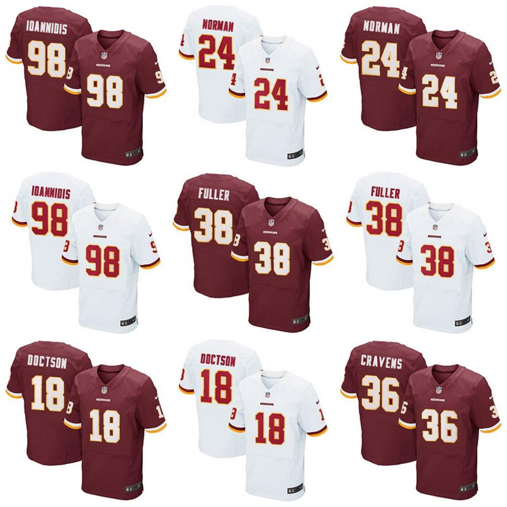 Washington Redskins Drift Fashion II Elite NORMAN IOANNIDIS FULLER DOCTSON #36(China (Mainland))