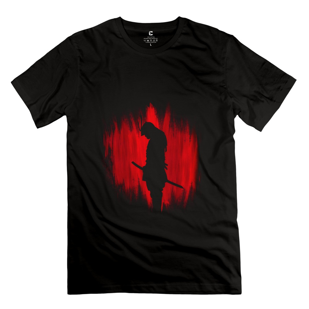 Classic Pre-cotton The way of the samurai warrior Men t shirt Simple Style Man's T Shirts(China (Mainland))