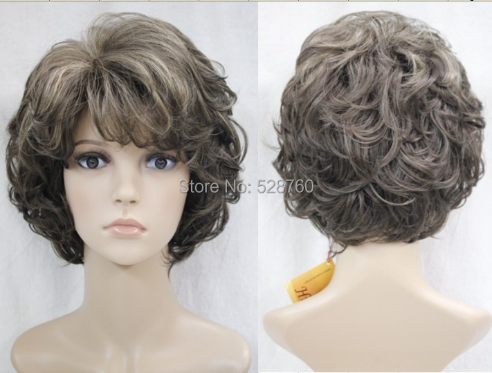 Stunning Synthetic short  Dark brown curly wig real hair like High temperature resistant hair  Free shipping<br><br>Aliexpress
