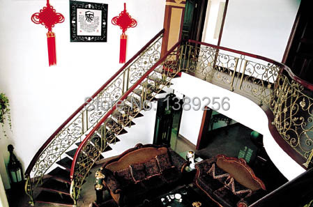 Professional cast iron plant fence wrought iron stair railing stair rails can be customized(China (Mainland))