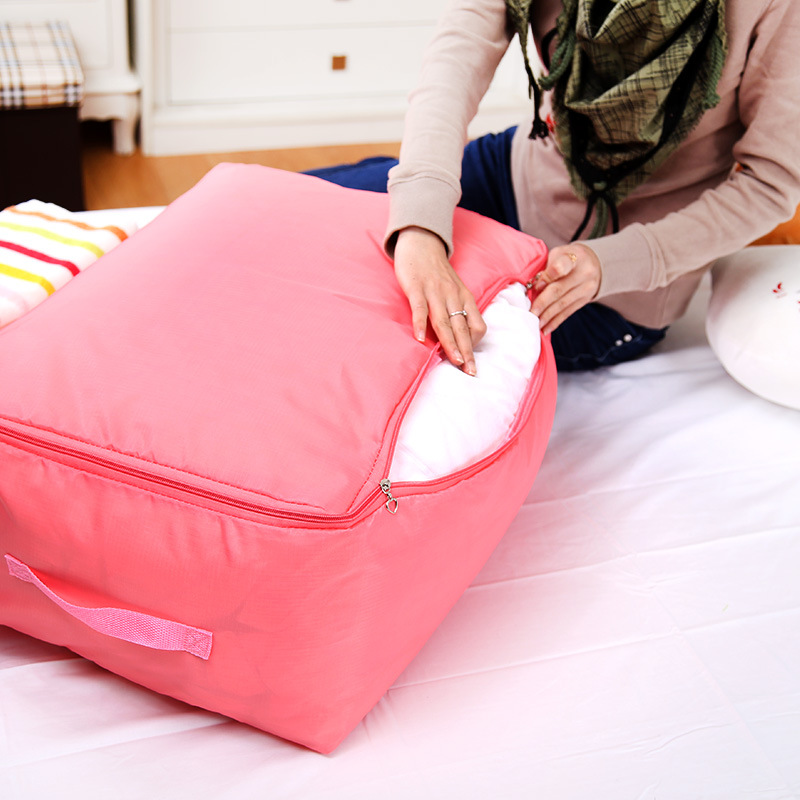 Multi-function Guilt Bag Clothes Folding Boxes Oxford Bout Large Storage bag Bedding Organizers Container(China (Mainland))