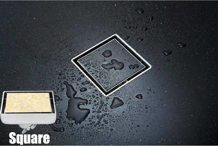 304 solid stainless steel round anti-odor floor drain bathroom hardware invisible shower floor drain <br><br>Aliexpress