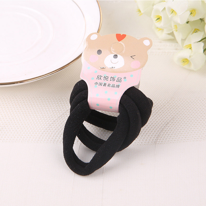 Tie Gum Accessories Women Head Wear Cute Solid Hair Ties High Quality Robber Elastic Hair Bands Simple Style Thick Slimsy(China (Mainland))