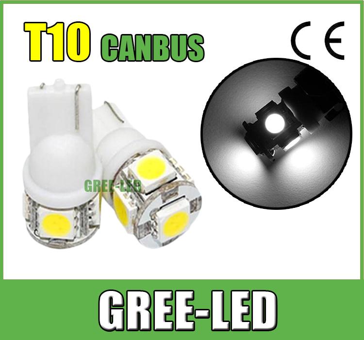 Wholesale10pcs/lot Led Car Light T10 5W 10led 5050 3528 SMD LED Bulb Lamp Warm White Cold White LED Llight(China (Mainland))